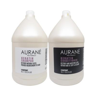 Dầu gội và dầu xả Aurane Keratin 4000ml (tặng lược + dầu gội Aurane 40ml)