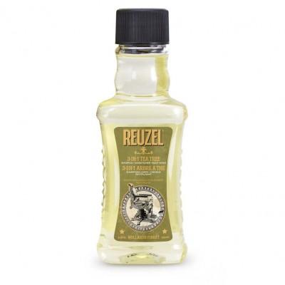 Dầu gội - xả - tắm Reuzel 3 in 1 Tea Tree 100ml (tặng lược + dầu gội Aurane 40ml)