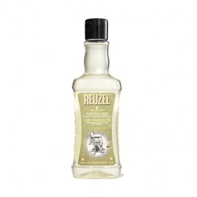 Dầu gội - xả - tắm Reuzel 3 in 1 Tea Tree 350ml (tặng lược + dầu gội Aurane 40ml)