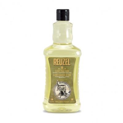 Dầu gội - xả - tắm Reuzel 3 in 1 Tea Tree 1000ml (tặng lược + dầu gội Aurane 40ml)