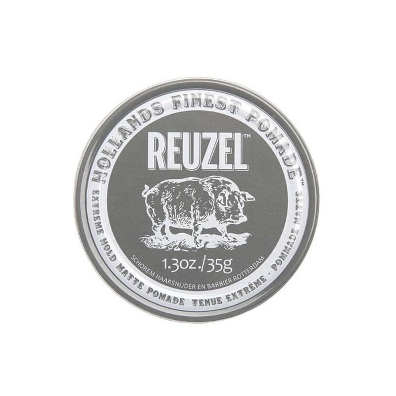 Reuzel Extreme Hold Matte Pomade Travel Size 35 gram (tặng lược + dầu gội Aurane 40ml)