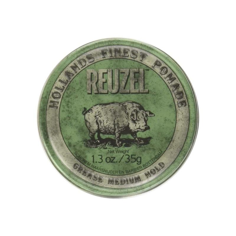 Reuzel Green Pomade Travel Size 35 gram (tặng lược + dầu gội Aurane 40ml)