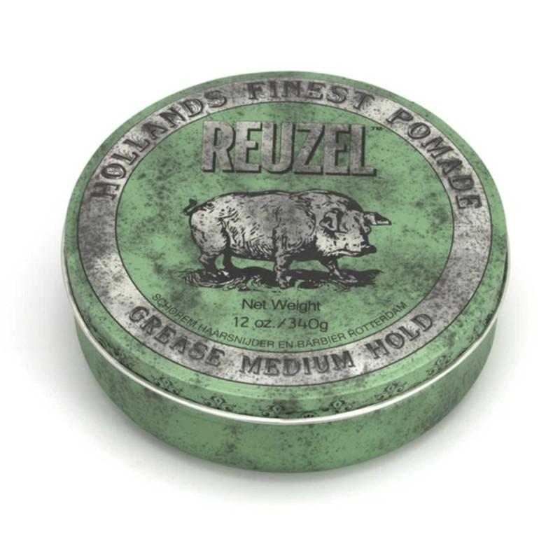 Reuzel Green Pomade 340 gram (tặng lược + gội xả Aurane 40ml)